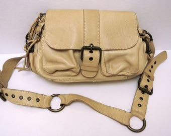 Vintage Genuine Leather Roots Handbag Boho Chic Vintage Clothing made in Canada REDUCED