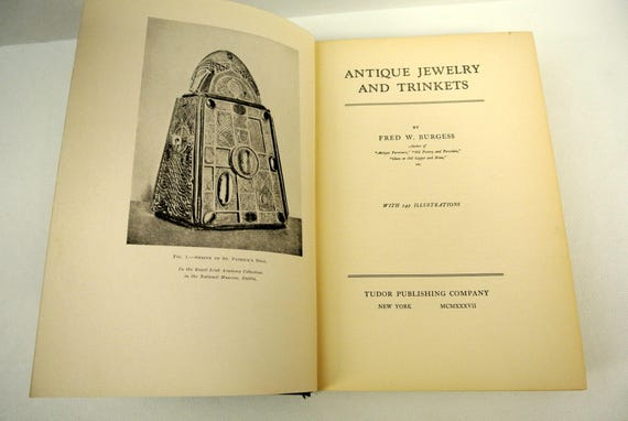 Vintage Book Antique Jewelry And Trinkets By Fred W Burgess Etsy