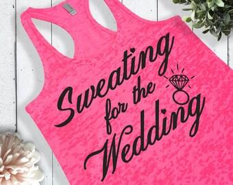 a693eb56 Bridal Workout Shirt. Bride Workout Tank Top. Wedding Workout Clothes.  Bride Workout Shirt. Bride Tank Top.