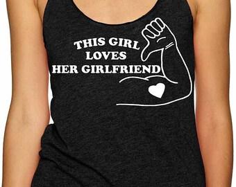 this girl loves her girlfriend