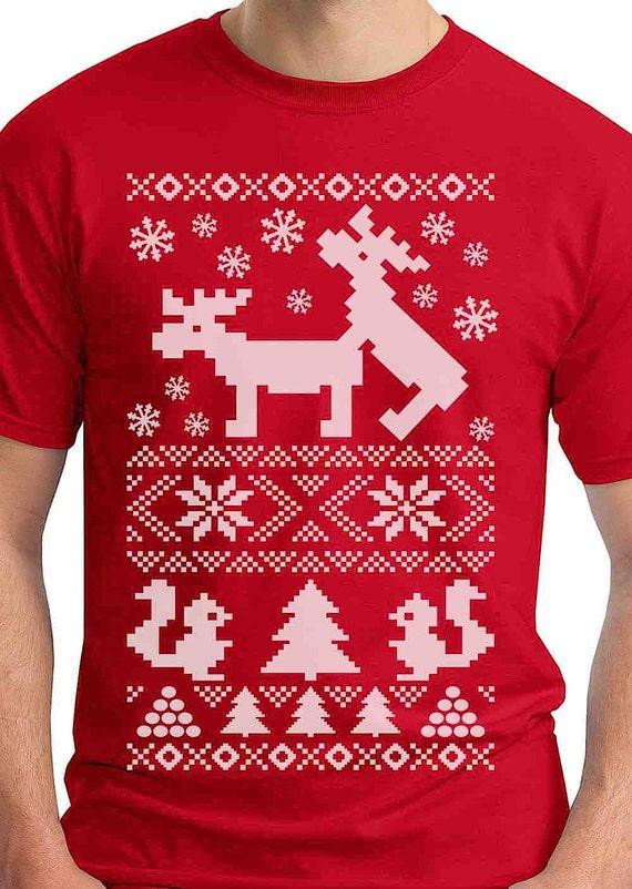Sizes S,M,L,XL,XXL Festive Mens Christmas Gift T-shirts