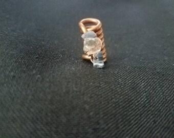 Sodalite and Clear Quartz Loc Jewelry