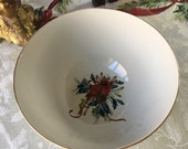 Lenox winter greetings Large Serving bowl dish Gold gilded Catherine Mclung 10W x 5 quot tall Mint