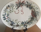 Lenox Winter Greetings Catherine Mclung large Serving Platter 16 quot x 12.5 quot USA