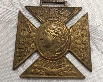 12447 Victorian Queen Victoria 1897 Diamond Jubilee Solid Silver Commemorative Medal /& Box