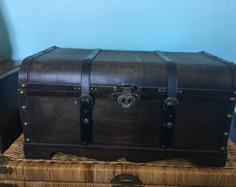 As found a reproduction wooden trunk