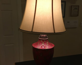 """Red Tall table lamp 34"""" resin"""