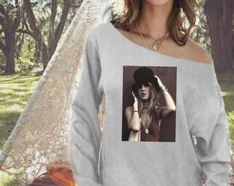 Stevie Nicks Gypsy Off The Shoulder Sweatshirt