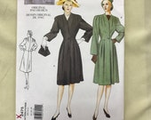 Vogue 2475, 14-16-18 Dress Sewing Pattern,Vogue Vintage Reprint of 1945 Design Uncut, Complete with Instructions, FF from 2000