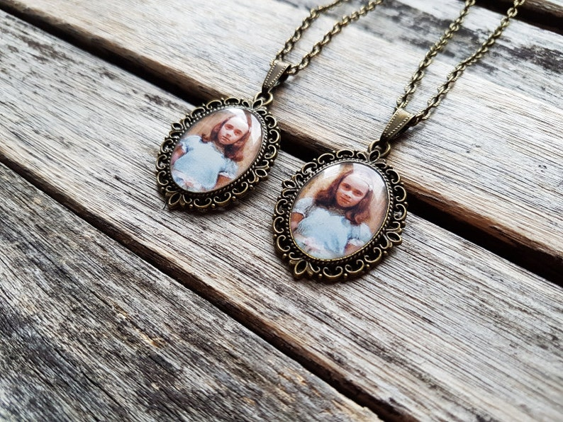Set of 2 Cameo Pendants The Grady Daughters From Stanley Kubrick The Shining BFF Friendship necklace Best Friends or Sisters Gift