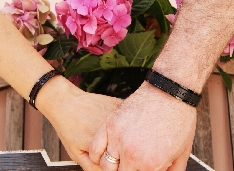Wedding Gifts for Couple Personalized Bracelets for Couples