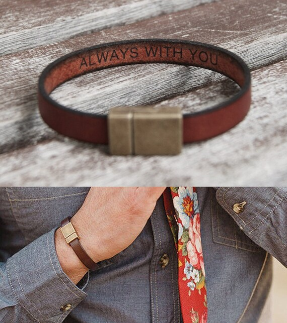 christmas-boyfriend-gift-for-boyfriend-hidden-message-bracelet-for-mens-gifts-for-him-personalized-unique-gift-leather-bracelet-custom by etsy