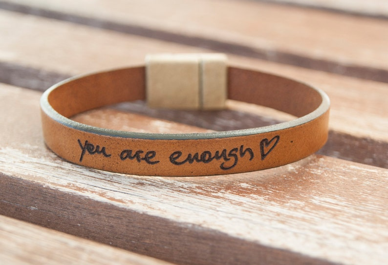 57326ce981d18 Custom Handwriting Bracelet Signature Bracelet Engraved Actual Handwriting  Personalized Leather Bracelet Memorial Gift Handwriting Jewelry