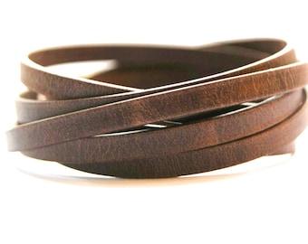 Leather Wrap Bracelet For Men Women  Boho Bracelet Unisex Bracelet Gift for Women Mens Leather bracelet Layered Bracelet