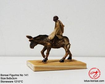 Bonsai Accent Figure  No 141 Donkey & Monk