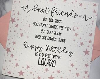 Personalised Best Friend Birthday Card