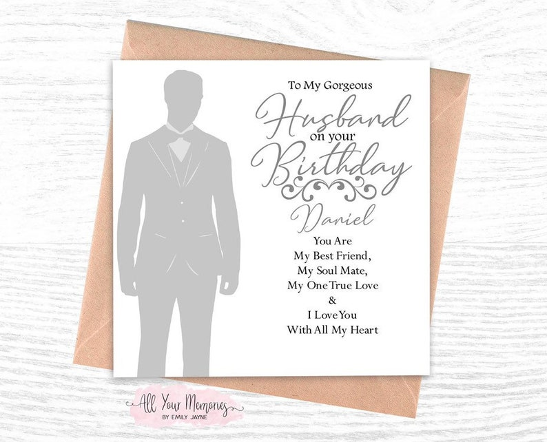 Personalised Husband/Boyfriend/Fiancé/Partner Birthday Card