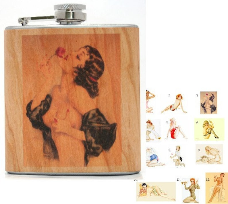 Pin-up girl flask. XXX image 0