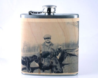 Customized wood flask with your picture