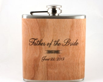 Unique father-of-the bride gift flask or father-of the-groom flask