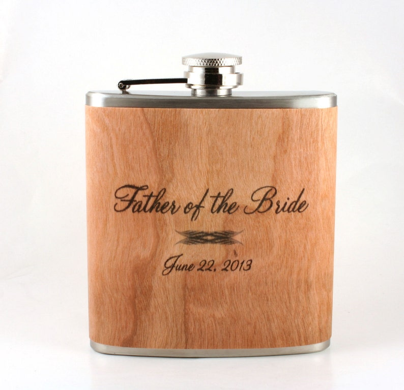 Unique father-of-the bride gift flask or father-of the-groom image 0