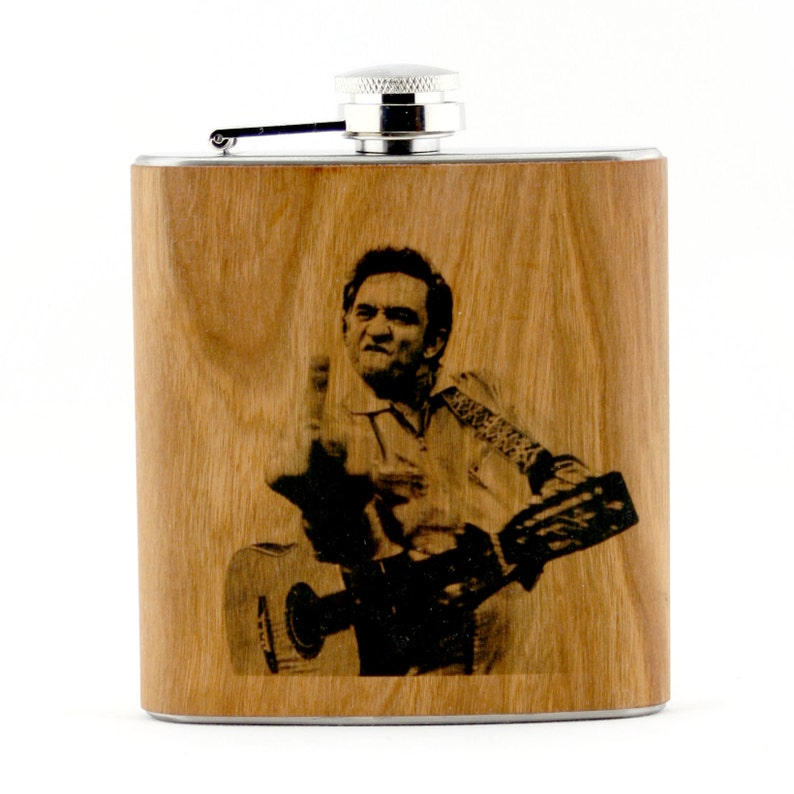 Johnny Cash finger flask. image 0