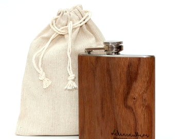 Gift bag, linen bag and funnel (Flask not included)