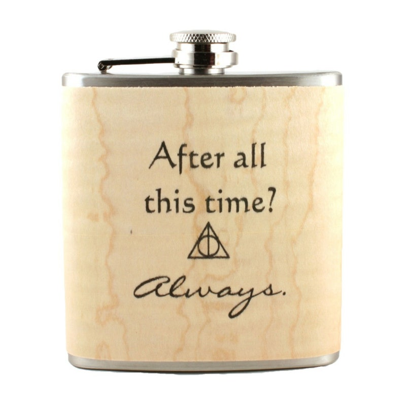 Harry Potter flask wood gift image 0