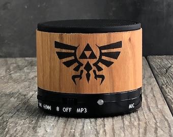 Zelda bluetooth speaker, Zelda Triforce, Zelda gift, Nintendo bluetooth speaker,