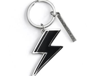 Silver Lightning Bolt Keychain - Silver Keyring - House Keyring - Key ring - Gift For Her - Silver Keychain - KR16