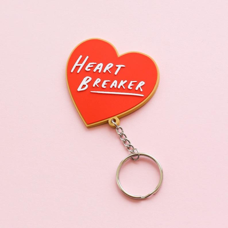 SALE: Heart Breaker Keyring  Motivational Keyring  Positive image 0