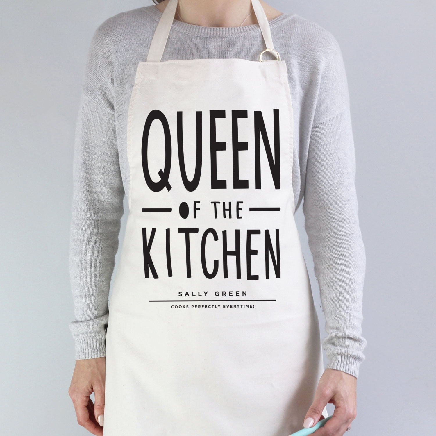 Queen of The Kitchen Apron personalised apron baking gift | Etsy