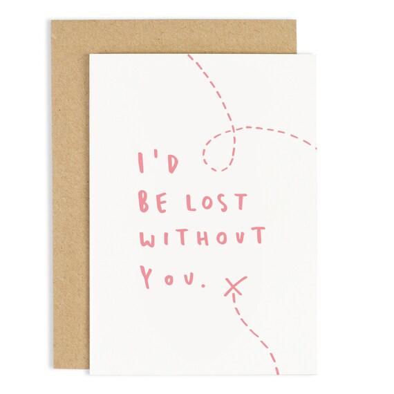 Verloren Ohne Dich Valentinstag Karte Geburtstag Etsy