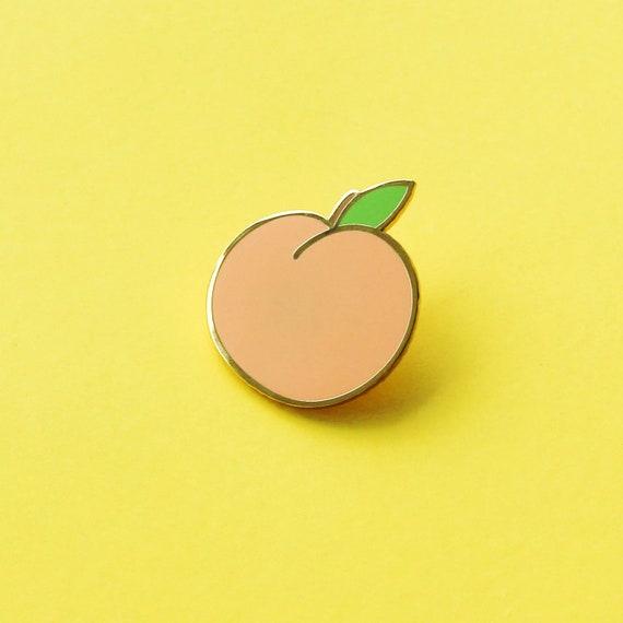 Peach Enamel Pin   Fruit Enamel Pin   Enamel Lapel Pin   Fun Enamel Pin   Bright Enamel Pin   Gift For Her   Enamel Pin by Etsy