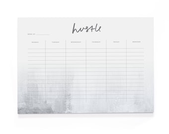 Hustle A4 Wall Planner - A4 Desk Pad - Motivational Stationery - Positive Notepad