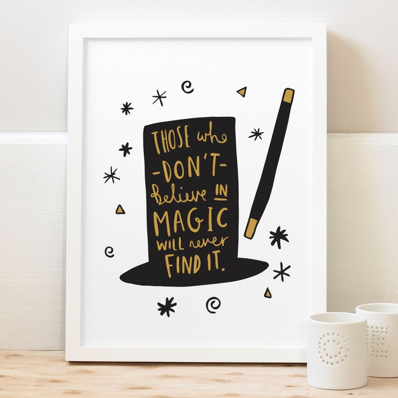 Citaten Roald Dahl : A4 magic print roald dahl quote print etsy
