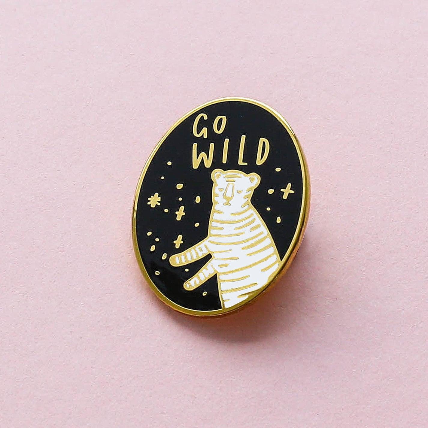 5591108a1d3 Go Wild Enamel Pin Tiger Go Wild Enamel Pin Enamel Lapel | Etsy