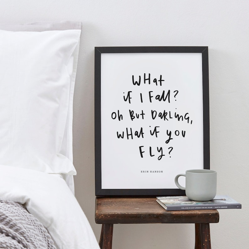 What If I Fall Quote Print  Erin Hanson's Quote image 1