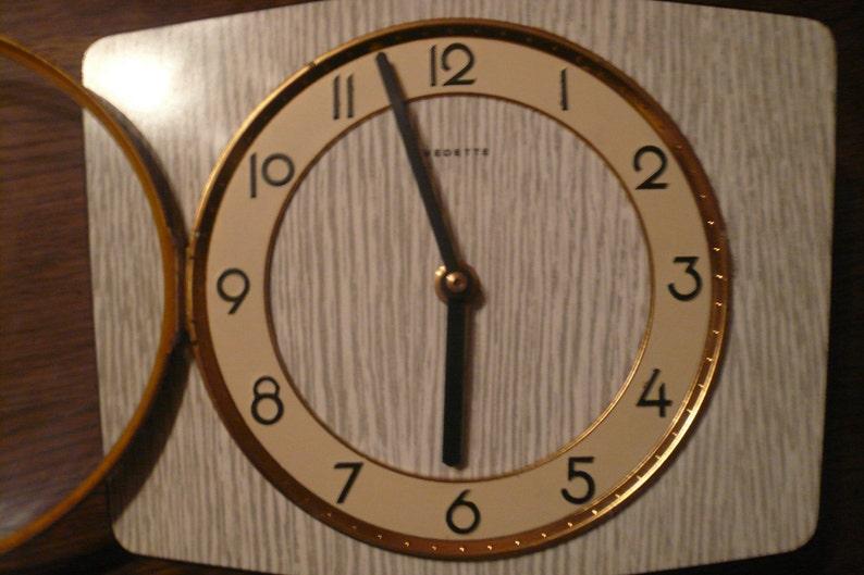 VINTAGE France Horloge Pendule Vintage Sixties Marque Vedette France