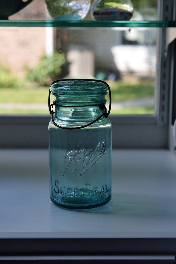 Ball Sure Seal 4 Blue Canning Jar Wire Bail Quart Size   Etsy