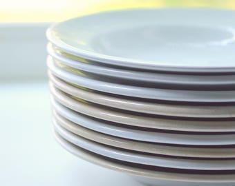 Ironstone Soup Salad Bowls Set of 9 John Maddock & Sons Staffordshire (B)