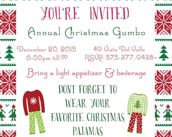 Christmas Party Invitations