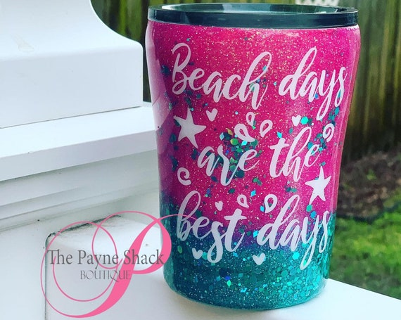 Beach Days are the Best Days Glitter Tumbler, Glitter Tumbler Personalized, Tumbler