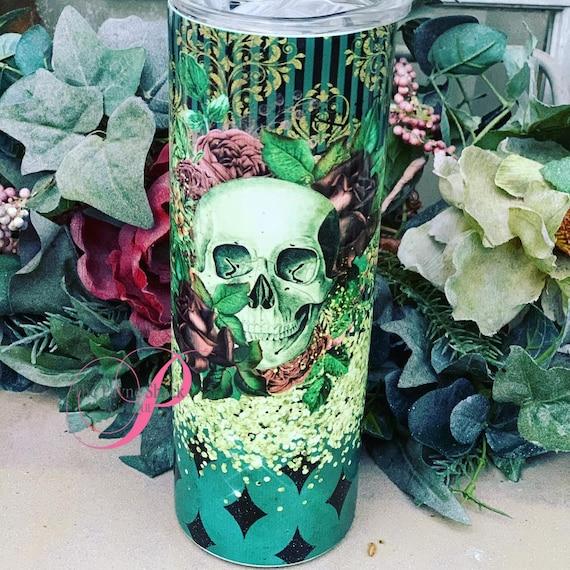 Skull Roses Sublimated Tumbler No Epoxy!