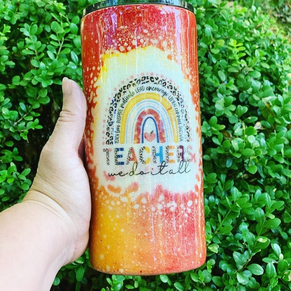 Teachers we do it all glitter Tumbler, Glitter Tumbler Personalized, Tumbler