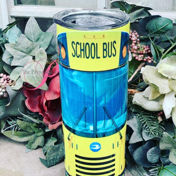 School Bus Sublimated Tumbler