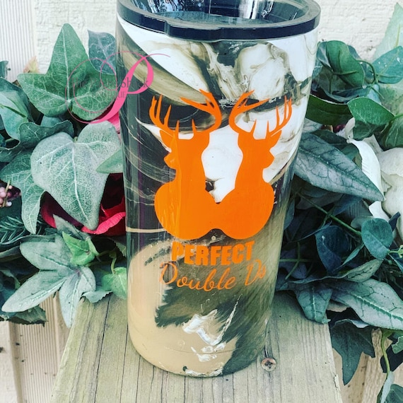 Camo Perfect Double D's Tumbler, Tumbler Personalized, Tumbler