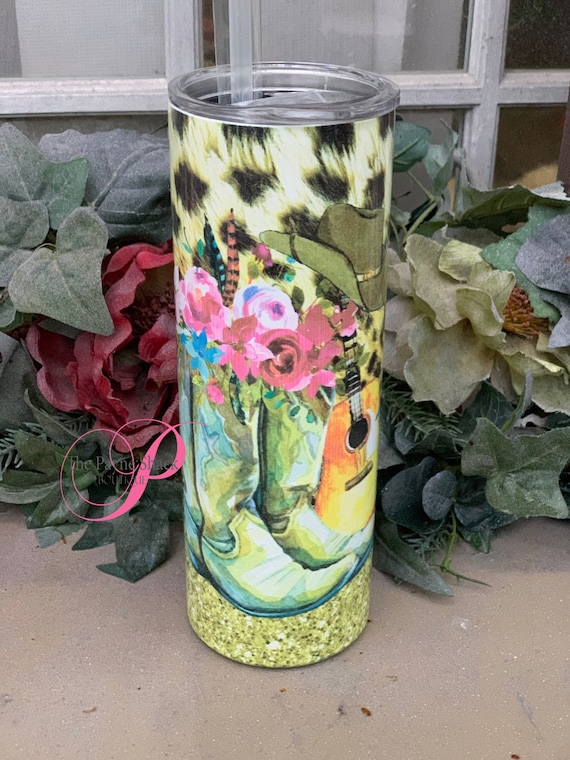 Country Boots Leopard Sublimated Tumbler No Epoxy!