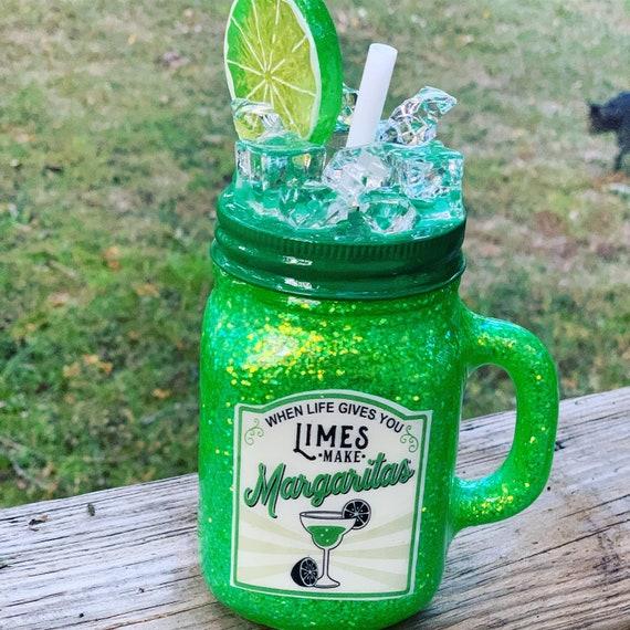 Life gives you limes make Margaritas Glitter Tumbler,  Glitter Tumbler Personalized, Tumbler