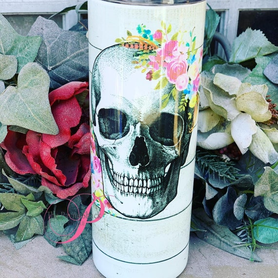 Skull Sublimated Tumbler No Epoxy!